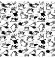 doodle dove birds seamless pattern background vector image vector image