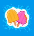 double ice-creams color vector image