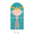 elf princess without face and blue long hair and vector image