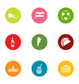 euro manner icons set flat style vector image vector image