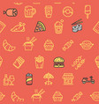 fastfood and street food pattern background vector image