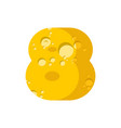 figure 8 cheese font numeral eight of cheesy vector image vector image