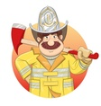 Fireman in uniform with ax vector image