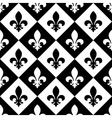 Fleur de lis seamless pattern vector image vector image