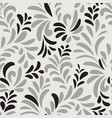 floral seamless pattern ornamental leaves vector image