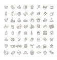 food courts icons set vector image