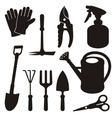 gardening silhouettes vector image vector image