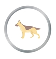 German shepherd icon in cartoon style for