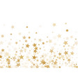 gold stars confetti falling holidays vector image