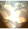 golden cubes abstract background vector image vector image