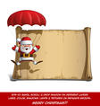Happy Santa Scroll Parachute Open Hands vector image vector image