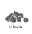 heap chickpeas glyph icon vector image vector image