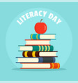 international literacy day new background flat vector image