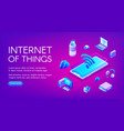 internet or things technology vector image