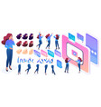 isometric constructor to create a character vector image vector image