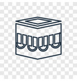 kaaba mecca concept linear icon isolated on vector image