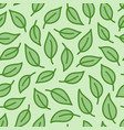 leaf background green colored seamless pattern vector image