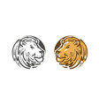 lion logo or emblem wildlife animal icon or vector image vector image