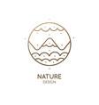 logo mountain landscape vector image vector image