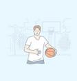 man playing basketball concept vector image vector image