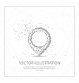 map pin digitally drawn low poly wire frame on vector image vector image