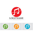 music note symbols logo and icons template vector image vector image