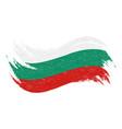 national flag of bulgaria designed using brush vector image vector image