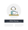 Online Training Icon vector image vector image