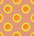Oranges pattern Seamless texture with ripe oranges vector image