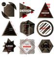 patterns set distress texture grunge design vector image vector image