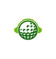 podcast golf logo icon design vector image vector image