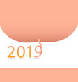 poster happy new year 2019 vector image