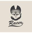 racer head vintage vector image vector image