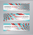 red blue banner design web header template vector image vector image