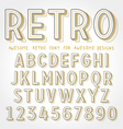 Retro Font with shadow vector image vector image