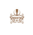 rock star music bar typography logo design vector image