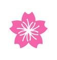 sakura icon design template isolated vector image vector image