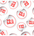sale 70 percent off sticker seamless pattern vector image vector image