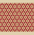 seamless pattern in asian style red and gold vector image vector image