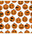 seamless pattern pumpkins vector image vector image