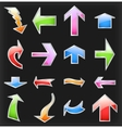 Set colorful arrows vector image