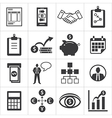 set of icons for business finance m-banking vector image