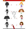 shadow activity game with girls vector image vector image
