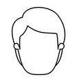 silhouette image caricature front view faceless vector image