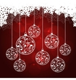 snowflakes background red vector image vector image