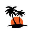 summer beach palm tree tropical island vacation vector image