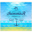 summer geometric mosaic background vector image vector image