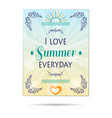 summer poster background vector image vector image