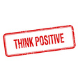 think positive red square grungy vintage isolated vector image vector image