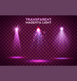 transparent magenta light effects on a dark vector image